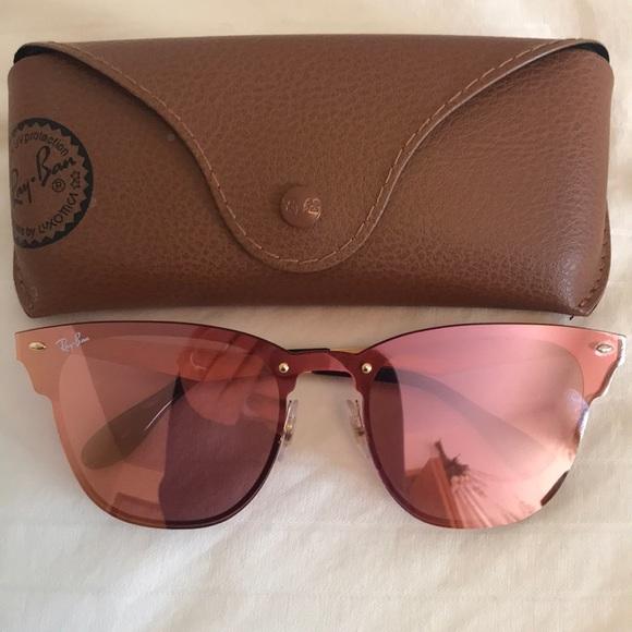 42100d5fb2 Ray-Ban Clubmaster Blaze Mirrored Sunglasses. M 5aa06d3edaa8f663e26d0318